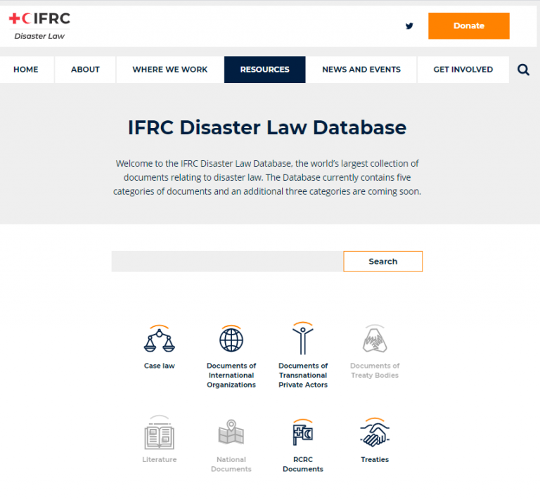 Upcoming Event: Launch of the Disaster Law Database